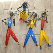 Art Figurines Metal Ants Jazz Band Black New Orleans Lot Of 4 Pick Up Only 17
