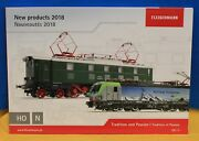 Fleischmann 2018 New Products Catalog For Ho And N Scale - Tradition And Passion I