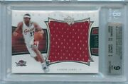 2004-05 Ud Exquisite Collection Lebron James Extra Jumbo Jersey /25 Bgs 9