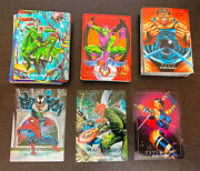 1992 Marvel Masterpieces Skybox -- Full 100 Card Set + 2 Dyna Etch + Promo