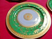 Vintage Mintons Ovington Brothers Emerald Green Gold Dinner Plate Made England