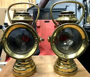 Antique Auto Neverout Brass Sidelights 1900and039s Curved Dash Olds And Other Makes