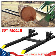 Clamp On Pallet Forks 60and039and039inch 1500 Lb Stabilizer Bar Loader Bucket