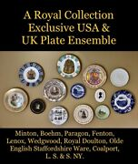 A Royal Collection Exclusive Usa And Uk Plate Ensemble / Incl. Limited Editions