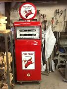 Texaco Fire Chief Double Gas Pump-restored- O A Smith L3-t-1-lighted. Vintage