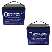 Mighty Max 12v 55ah Gel Replacement Battery For Scada Systems Agm Solar - 2 Pack