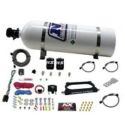Nitrous Express 20949-15 Gt500 Nitrous Plate System 50-300hp With 15lb Bottle