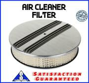 14 Aluminum Finned Breather Cleaner Air Filter Fits Chevy Ford Sbc Bbc