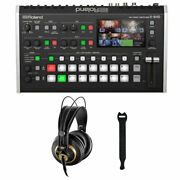 Roland V-8hd Video Switcher W/ Akg K-240 Pro Headphones And 10-pack Straps