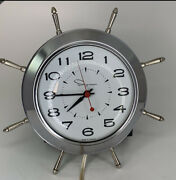 Ingraham Mid Century Small Atomic Wall Clock Plug In Electric - Works Great