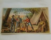 Vtg 1900s Victorian Trade Card Libby Mcneill And Libbyand039s Corned Beef Soldier War