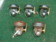 5 - Vintage Wright And Mcgill Stream And Lake Model 88a Fishing Reels - As Is