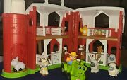 Fisher Price Little People Farm House Barn W/silo Animals And Farmers Lot