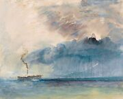 A Paddle Steamer In A Storm Painting By Jmw Turner Art Reproduction