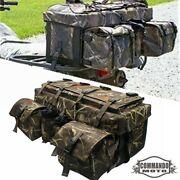 Atv Rear Rack Luggage Storage Cargo Gear Pack Off Road Bag For Can-am Polaris
