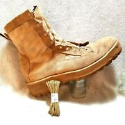 Wellco Mens Military Boots Sz 11.5 R Desert Tan Us Army Flight And Combat Vehicle
