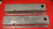 Vintage Mickey Thomson S/b Chevy 3276000 Finned Aluminum Valve Covers M/t