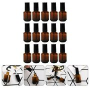15pcs 10ml Glass Nail Polish Bottles Empty Cosmetic Containers With Brush Cap