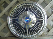 One Vintage 1966 1967 Ford Mustang Fairlane Galaxie Spinner Hubcap Wheel Cover