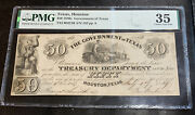 Texas Houston 1830andrsquos 50 Government Of Texas Note Pmg 35 Choice Very Fine