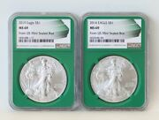 2014 2019 Ngc Ms69 Silver Eagle From Us Mint Sealed Box 2 Dollars/1 Coins Lot