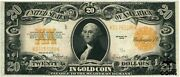 1922 United States 20 Dollars Gold Certificate Speelman White Large Note