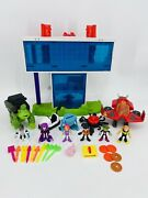 Imaginext Dc Teen Titans Playset Lot Go Tower W/ Accessories 7 Figures Vehicles