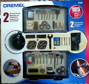 Orig. Dremel 700 Accessories Kit 185 Pieces 2 Storage Cases And 2 Attachments New