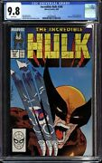 Incredible Hulk 340 1988 Marvel Cgc 9.8 Nm/mt Classic Wolverine By Todd Mcfar