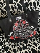 Loungefly Star Wars Darth Vader Stormtrooper Tote Bag Purse Floral Used