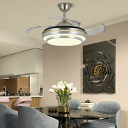 36 Crystal Led Chandelier Invisible Ceiling Fan Light Ceiling Lamp+ Remoteused