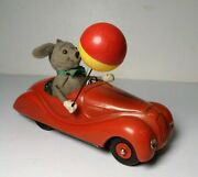 Vintage 1950and039s Schuco Sonny Mouse 2005 Tin Wind Up Bmw Toy Car Us Zone Germany