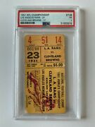 1951 Nfl Championship Ticket Psa Cleveland Browns Vs Los Angeles Rams