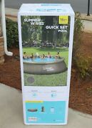 New Summer Waves 16and039 X 42 Wicker Print Quick Set Pool W/ Filter Pump Ladder