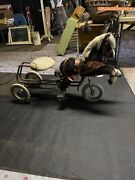 Vintage Pony Cart Riding Toy Tricycle Sulkie Race Horse