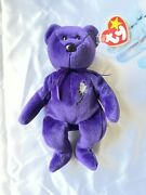 Highly Collectible. retired. Princess Diana Beanie Baby Bear. Mint Condition.