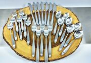 Lauffer Towle Stainless - Design 2 Knife Forks Spoons Norway Lot Of 26 Pcs