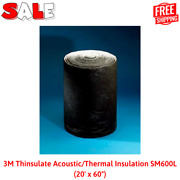 3m Acoustic/thermal Insulation Sm600l 20' X 60, Free Shiping