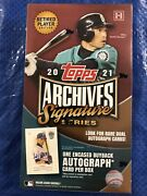 2021 Topps Archives Signature Retired Player Edition Factory Sealed Hobby Box