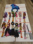 Large Monster High Doll Lot Of 12 Draculaura Rochelle Cleo Clawdeen 1 Horse