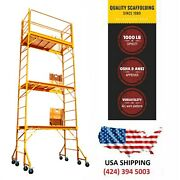 Scaffolding 18 Ft Buildmaster W/guard Rail Andoutriggers Painting Drywall