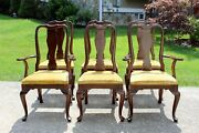 Late 20th Century Ethan Allen Georgian Court Cherry Dining Chairs - Set Of 6