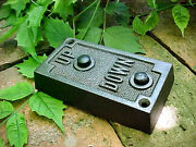 Antique Vintage Cast Iron Elevator Call Box Cover Panel Up And Down Button Plate