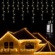 Jmexsuss 38.8ft 400 Led Icicle Lights Outdoor Waterproof Icicle Christmas Lights