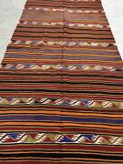 Antique Turkish Kilim Kelim 4and0397and039and039x12and0395and039and039 Vintage Moroccan Country Home Large