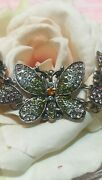 💜new💜rare💜rare💛retired💛hsn💛suzanne Somers Butterfly Necklace Earrings Set