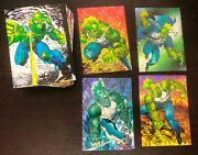 Savage Dragon Trading Cards 1992 -- Full 90 Card Set + 4 Of 5 Prism Chase