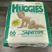 Vintage Huggies Supertrim 66 Pack Small Diapers -new Dry Touch System