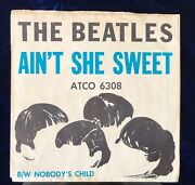 Sleeve And Record The Beatles Ainand039t She Sweet/ Nobodyand039s Child- Atco 6308