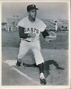 1950s Orlando Cepeda 8x 10 Image Used For His 1958 Topps Rookie Card